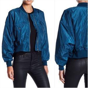 Romeo + Juliet Couture Light Gray Bomber Jacket